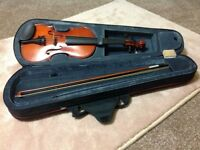3/4 violin, dark brown, vintage, great for students, perfect condition, ONO