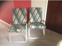 Pair of garden/conservatory chairs