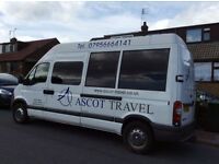 Minibus Hire with Driver. Competitive Rates!!