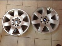 "BMW 16"" alloys 5 stud very clean"