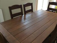 Marks and Spencer Solis Oak Dinning Room Table with 6 chairs