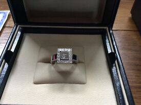 Chopard happy diamond ring 18 ct white gold