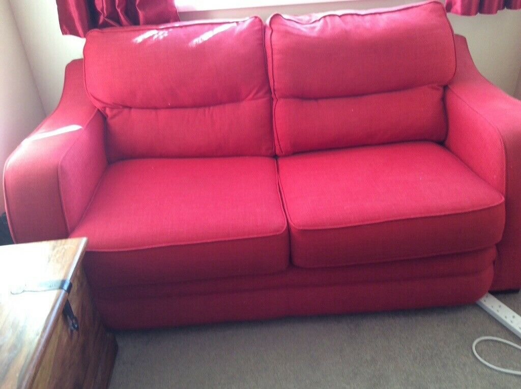 Groovy Red Small Double Fabric Sofa Bed In Tewkesbury Gloucestershire Gumtree Pdpeps Interior Chair Design Pdpepsorg