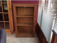Pristine solid pine bookcase
