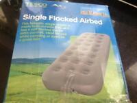 Single flocked Air bed .
