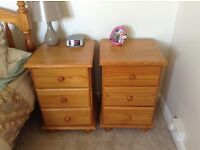 X 2 bedside drawers