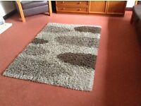 Large heavy quality rug, 170cm X 120 cm, shaggy style, from Dunelm Mill.