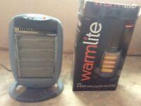 3 Portable electric heaters - 2 are halogen 1600watt and 1 is convector 2000 watt