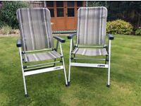 Outwell folding camping / garden chairs two available