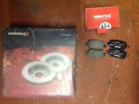 Vauxhall Astra MK5 04 -09 rear discs and pads 5 stud