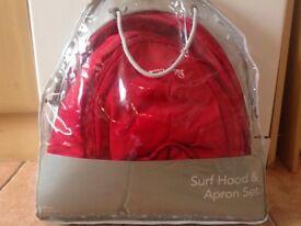 New - Silver Cross Surf Hood & Apron Set!