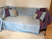 Two lovely throws and matching cushions bought from John Lewis lined one in blue and one in purple