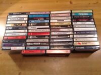 50 MUSIC CASSETTES. ROCK AND POP.