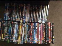 60 assorted DVDs for sale job lot