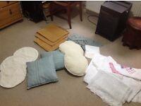 Selection of cushions & fabrics
