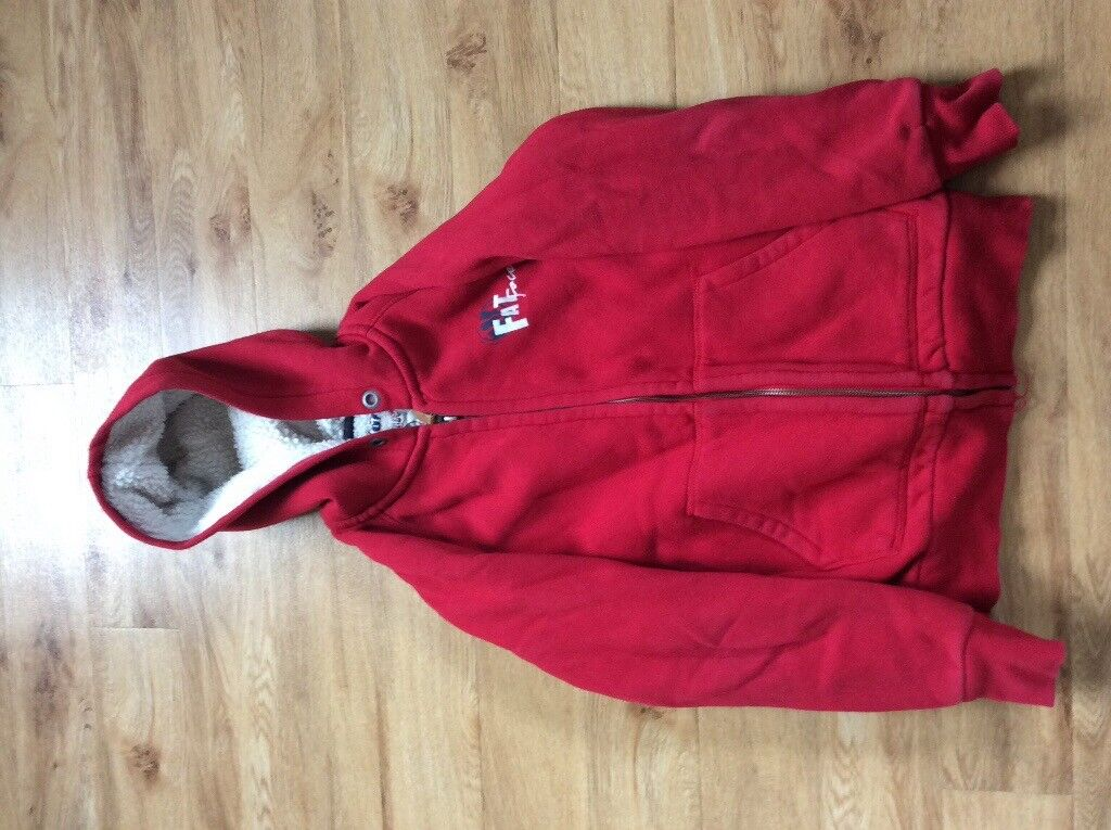 Boys Fat Face Red Fleece Lined Jacket Age 12/13
