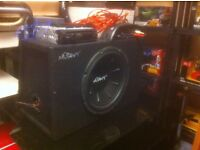 Car Sub-woofer complete with amplifier and Sony CD Player