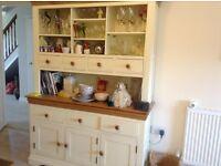Beautiful solid oak cream kitchen dresser