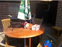 GARDEN TABLE AND 4 CHAIRS, originally purchased from Scats, only selling as downsizing