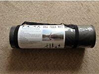 Black 15mm thick Yoga Mat (NEW, shoulder strap missing)