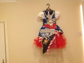 New with tags Pirate dress 5-6yrs