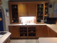 Solid oak kitchen units, 28 years old, very good condition. Having a new kitchen