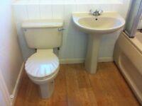 3 piece Bathroom suite and Mira shower