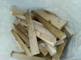 Wood kindling bags