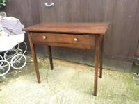 Antique mahogany console hall table