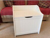 Bathroom linen box and seat