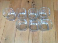 Set of 7 glasses