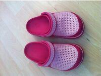 Pink Crocs for kids size 12 c 13