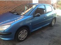 Peugeot 206 1.4 HDI 5dr diesel for sale £650 ono