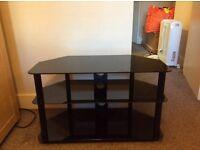 Next 3 tier black glass stand