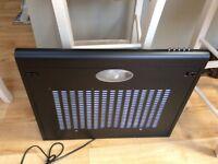 Cooker extractor fan-new,unused Cookology 60cm visor fan in black.