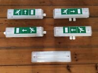 Zeta II IP65 Bulkhead Emergency Light and Exit Sign (5 avail)