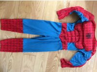 Spiderman dress up costume age 3-5