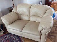 Leather 2-seater sofa