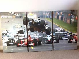 Set of three, Formula One wall art - £20 in excellent condition