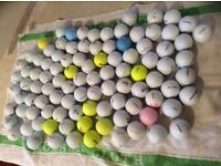 Golf Balls 100 used good condition various brands