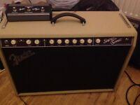 Fender Supersonic amp in cream/oxblood. 60 watt version.