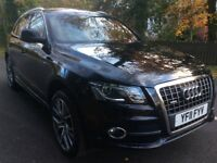 Audi Q5 2.0 TDi Quattro S line leather sat nav fsh 2011 BUY FOR £58 PER WEEK