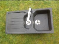 Mixer tap chrome. Good working order. 0.5 bar. With FREE sink. Granite 1.5 bowl. Franke model