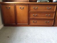 Teak cupboard and drawers / sideboard