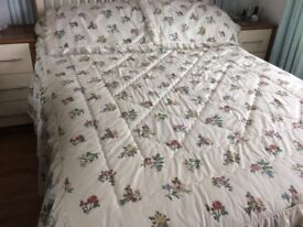 Dorma quilted bedspread and pillow shams