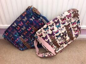 Oilcloth Butterfly Shoulder/Messenger Bags