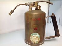 Vintage brass gardener's plant water mister