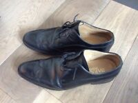 Men's Barker black leather lace up shoes - size 42