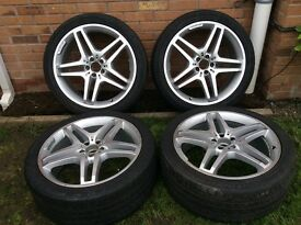 """Mercedes Benz Alloy Wheels 21"""" AMG Line for GLE & ML"""