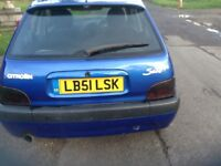 Citroen saxo 1.4 furio fitted with 1.6 vtr engine lowered 4 branch manifold straight through exhaust
